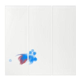 Rotes u. blaues flockiges triptychon