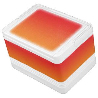 Rotes u. orange Ombre Igloo Kühlbox