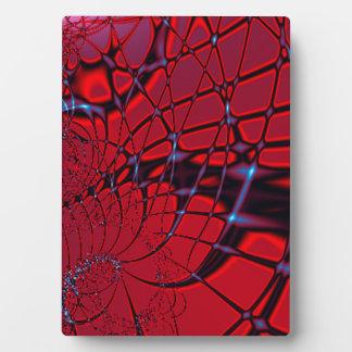 Rotes und blaues Fraktal Fotoplatte