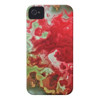 Rotes und grünes abstraktes iPhone 4 etuis