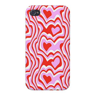 rotes und rosa Herzmuster iPhone 4 Cover