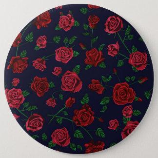 Rotes und rosa Rosen-Abzeichen Runder Button 15,3 Cm