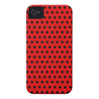 Rotes und schwarzes Tupfen-Muster. Spotty. iPhone 4 Case-Mate Hülle