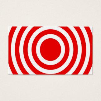 Rotes und weißes Bullauge Visitenkarte