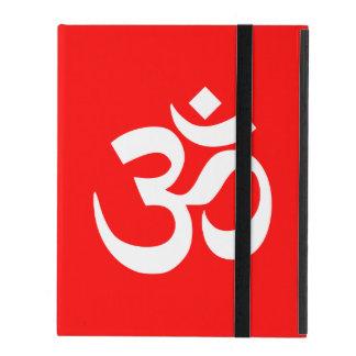 Rotes und weißes OM-Symbol iPad Hülle