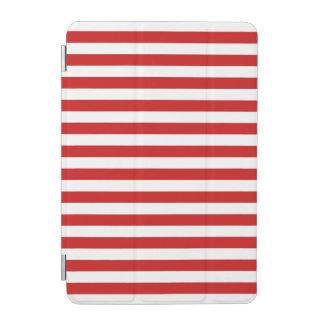 Rotes und weißes Streifen-Muster iPad Mini Hülle