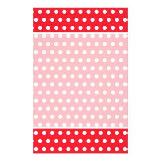 Rotes und weißes Tupfen-Muster. Spotty. 14 X 21,6 Cm Flyer