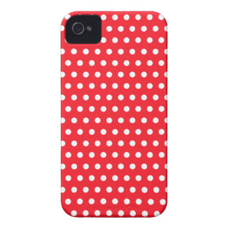Rotes und weißes Tupfen-Muster. Spotty. iPhone 4 Cover