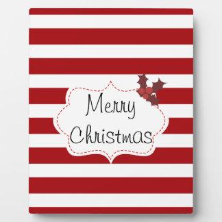 Rotes und weißes Weihnachtsmagie Fotoplatte