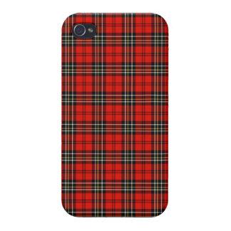 Rotes Vintages kariertes iPhone 4 Hülle