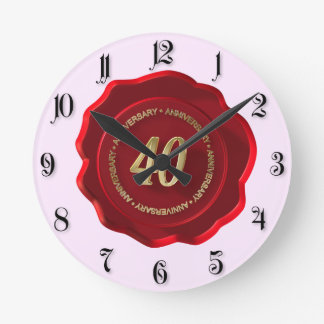 rotes Wachs-Siegel des 40. Jahrestages Uhren