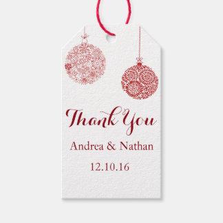 Rotes Weihnachten danken Ihnen Geschenk-Umbau Geschenkanhänger