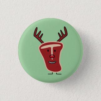Rotes Weihnachten Nase des glücklichen Runder Button 3,2 Cm