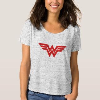 Rotes Wunder-Frauen-Logo T-Shirt