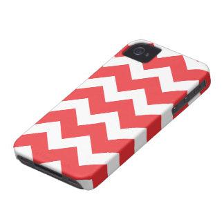Rotes Zickzack iPhone 4 Case-Mate Hüllen