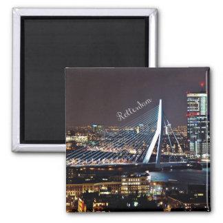 Rotterdam-Stadtbild Quadratischer Magnet