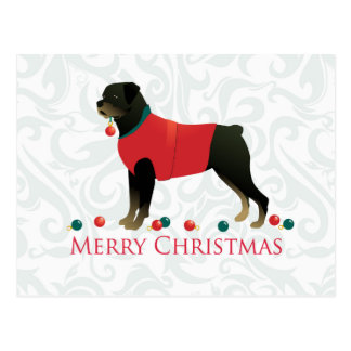Rottweiler frohe Weihnacht-Entwurf Postkarte