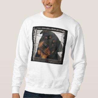 rottweiler-gerahmt sweatshirt