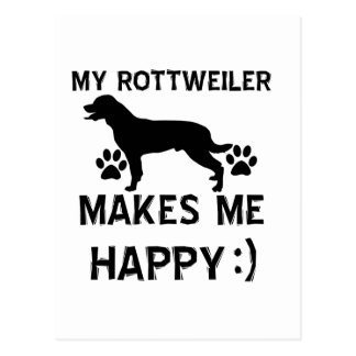 Rottweiler Geschenkartikel Postkarte