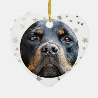 Rottweiler | keramik Herz-Ornament