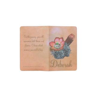 Rotwein-Schalen-bunte Kaktus-Blumen Moleskine Taschennotizbuch