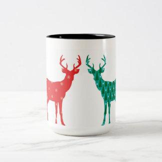 Rotwild-Dollar-Weihnachtsmuster - Tasse