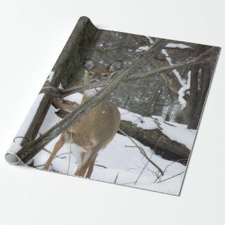 """Rotwild-Packpapier, 30"""" x 6' Geschenkpapierrolle"""