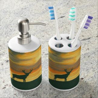 Rotwildseifenzufuhr und Zahnbürstetransportgestell Seifenspender