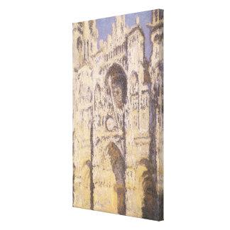 Rouen-Kathedrale, Harmonie-blaues Gold durch Leinwanddruck