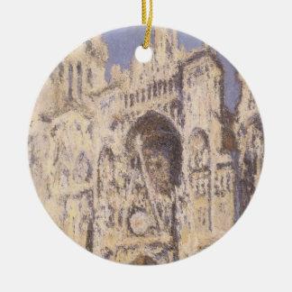 Rouen-Kathedrale, Harmonie-blaues Gold durch Rundes Keramik Ornament