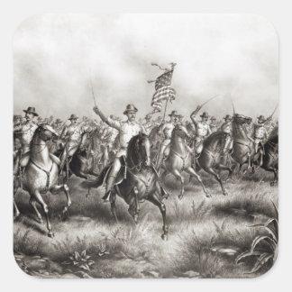 Rough Riders: Oberst Theodore Roosevelt Quadratsticker