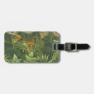Rousseau Dschungel-tropischer Löwe-Kunst-Druck Gepäckanhänger