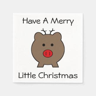 Roy das Weihnachtsschwein Serviette