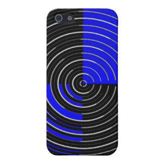RoyalBlue n silberner Streifen iPhone 5 Case