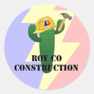 Royco Bau Runder Aufkleber