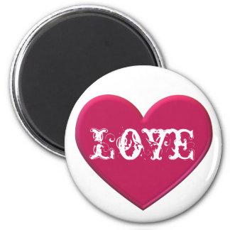 Rube Herz-Liebe-Magnet Runder Magnet 5,7 Cm