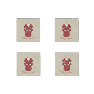 Rubin für Frauen-Rot-Engel Stein-Magnet