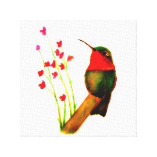 Rubin-Throated Kolibri Leinwanddruck