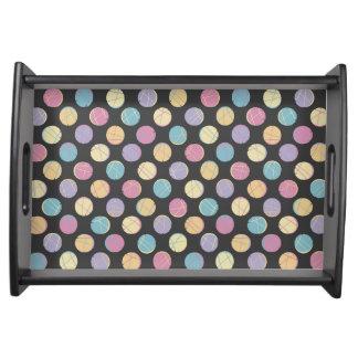 Rück Colorful confetti dots modern serving tray Serviertabletts