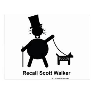 Rückruf-Scott-Wanderer Postkarte