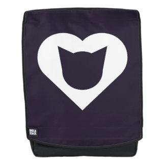 Rucksack mit weißem Herzen mit