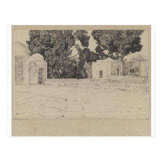 Rückseite der Moschee von Omar durch James Tissot Postkarte