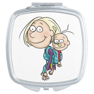 Rückseite tragen Spiegel, Quadrat Schminkspiegel