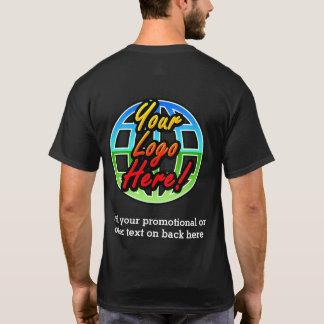 Rückseiten-nur Geschäfts-Logo-dunkles T-Shirt