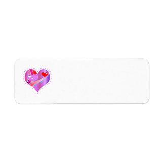 Rücksendeadresse-Aufkleber - Herz, Valentine Rücksendeetiketten
