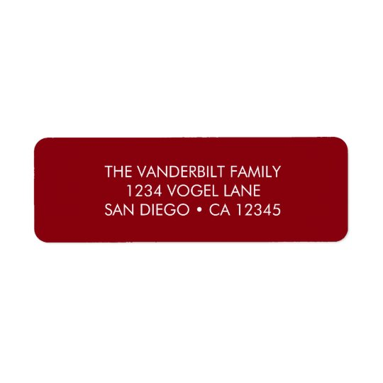 Rücksendeadresse-Aufkleber im Rot Kleiner Adressaufkleber