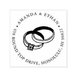 Rücksendeadresse der Hochzeits-Band-| Permastempel