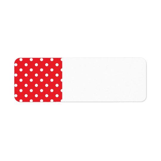 Rücksendeadresseaufkleber: mit Volkspunkten Kleiner Adressaufkleber