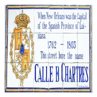 Rue-Chartres-Fliesen-Wandgemälde Quadratische 13,3 Cm Einladungskarte