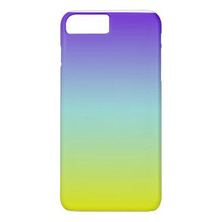 Rufen Sie Fall mit lila, blauer und gelber iPhone 8 Plus/7 Plus Hülle